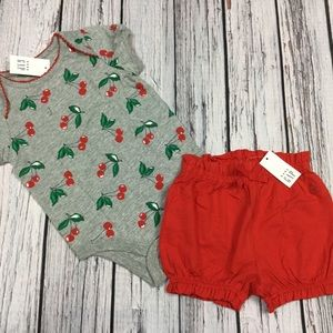 Gap Girls 0 3 6 12 18 24 Months Cherry Outfit